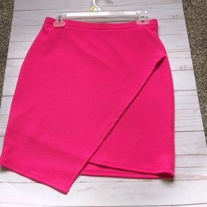NEW hot pink skirt - size Large